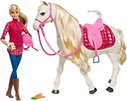Barbie Dream Horse & Blonde Doll